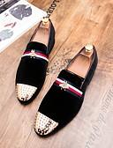Недорогие Мужские блейзеры и костюмы-Муж. Официальная обувь Замша Осень Английский Мокасины и Свитер Черный / Красный