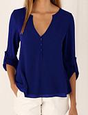 cheap Women's Blouses-women's blouse - solid colored v neck