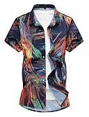 זול חולצות לגברים-פרחוני בסיסי סגנון סיני חולצה - בגדי ריקוד גברים