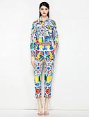 זול שמלות נשים-מכנס דפוס, פרחוני - חולצה וינטאג' / סגנון רחוב בגדי ריקוד נשים