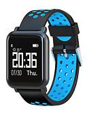 baratos Smartwatches-Relógio inteligente STSN60 para Android iOS Bluetooth Impermeável Monitor de Batimento Cardíaco Medição de Pressão Sanguínea Tela de toque Calorias Queimadas Podômetro Aviso de Chamada Monitor de