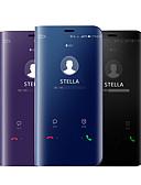 hesapli Cep Telefonu Kılıfları-Pouzdro Uyumluluk Samsung Galaxy A5(2018) / A6 (2018) / Galaxy A7(2018) Kaplama / Ayna / Flip Tam Kaplama Kılıf Solid Sert Silikon