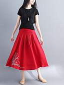ieftine Pantaloni de Damă-Pentru femei Leagăn Activ Fuste - Mată Negru & Roșu