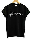 povoljno Majica s rukavima-Majica s rukavima Žene - Osnovni Dnevno / Praznik Pamuk Grafika Uski okrugli izrez Print Obala / Ljeto