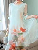 זול שמלות נשים-מידי אחיד - שמלה שיפון בגדי ריקוד נשים