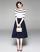 povoljno Ženski dvodijelni kostimi-Žene Ulični šik Sweater - Jednobojni / Prugasti uzorak Suknja