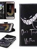 baratos Relógio Esportivo-Capinha Para Samsung Galaxy J7 (2017) / J2 PRO 2018 Carteira / Porta-Cartão / Com Suporte Capa Proteção Completa Palavra / Frase Rígida PU Leather para J7 (2017) / J7 (2016) / J7