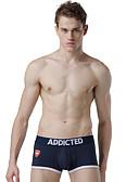 abordables Ropa interior para hombre exótica-Hombre Boxer Un Color Tiro Bajo