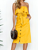 cheap Women's Dresses-Women's Basic Street chic Sheath Dress - Solid Colored Backless