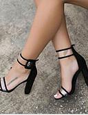 זול חלוקים & Sleepwear-בגדי ריקוד נשים סנדלים לחסום סנדלים סנדל עקב עבה PU נוחות קיץ כחול / נמר / בורדו / נעלי עקב / EU39