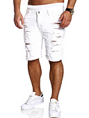 preiswerte Exotische Herrenunterwäsche-Herrn Grundlegend Jeans / Kurze Hosen Hose Solide