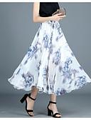 זול חצאיות לנשים-פרחוני - חצאיות ליציאה נדנדה חמוד בגדי ריקוד נשים מותניים גבוהים