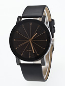 cheap Sport Watches-Men's / Women's Wrist Watch Chinese Large Dial Leather Band Fashion / Minimalist Black