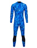 cheap Dress Watches-Bluedive Men's Full Wetsuit 3mm Neoprene Diving Suit Long Sleeve Back Zip - Swimming / Diving / Watersports Print / Camouflage Color All Seasons
