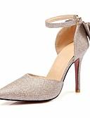 hesapli Kokteyl Elbiseleri-Kadın's Ayakkabı PU Sonbahar Rahat / Temel Topuklu Topuklular Stiletto Topuk için Altın / Siyah / Gümüş
