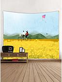 billige Ballkjoler-Hage Tema Sykkel Veggdekor polyester Moderne Veggkunst, Veggtepper Dekorasjon