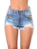 ieftine Pantaloni de Damă-Pentru femei Șic Stradă Blugi / Pantaloni Scurți Pantaloni Floral