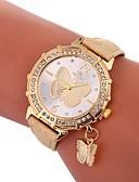 cheap Quartz Watches-Xu™ Women's Dress Watch Wrist Watch Quartz Creative Casual Watch Lovely PU Band Analog Butterfly Fashion Black / White / Blue - Green Blue Golden One Year Battery Life / Imitation Diamond