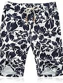 ieftine Pantaloni Bărbați si Pantaloni Scurți-Bărbați Mărime Plus Size Bumbac Zvelt Pantaloni Scurți Pantaloni Floral / Va rugăm selectați cu o mărime mai mare decât purtați. / Plajă