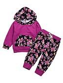 povoljno Kompletići za bebe-Dijete Djevojčice Aktivan Print Dugih rukava Duga Pamuk Komplet odjeće