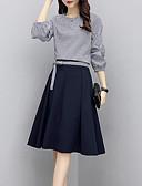 baratos Vestidos de Mulher-Mulheres Moda de Rua / Sofisticado Conjunto Geométrica Saia