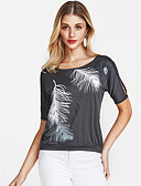 cheap Women's Blouses-Women's Vintage T-shirt - Geometric