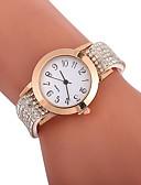 cheap Quartz Watches-Xu™ Women's Dress Watch Wrist Watch Quartz Creative Casual Watch Imitation Diamond PU Band Analog Fashion Elegant Black / White / Blue - Red Green Blue One Year Battery Life / Large Dial