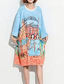 ieftine Tricou-Pentru femei Tricou Bumbac Portret