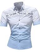 baratos Camisas Masculinas-Homens Tamanhos Grandes Camisa Social Estampa Colorida / Manga Curta