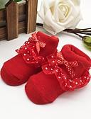 billige Undertøy og sokker til jenter-Baby Jente Aktiv Daglig Trykt mønster Sløyfe Rayon Undertøy og strømper Rød