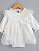 זול שמלות לתינוקות-חליפת גוף כותנה שרוול ארוך תחרה אחיד פעיל בנות תִינוֹק