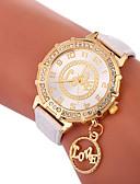 cheap Quartz Watches-Xu™ Women's Dress Watch / Wrist Watch Chinese Creative / Casual Watch / Lovely PU Band Fashion / Word Watch Black / White / Blue / Imitation Diamond / Large Dial / One Year