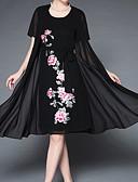 ieftine Rochii Maxi-Pentru femei De Bază Pantaloni - Mată / Floral Negru / În V