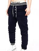 tanie Koszulki i tank topy męskie-Męskie Bawełna Szczupła Spodnie dresowe Spodnie Jendolity kolor