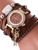 ieftine Quartz-Pentru femei Ceas Brățară Quartz Ceas Casual Încântător imitație de diamant PU Bandă Analog Boem Elegant Negru / Alb / Albastru - Rosu Verde Albastru Un an Durată de Viaţă Baterie