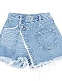 ieftine Pantaloni de Damă-Pentru femei Talie Înaltă Bumbac Pantaloni Scurți Pantaloni Mată