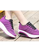 abordables Sombreros de  Moda-Unisex Zapatos Malla Primavera verano Confort Zapatillas de Atletismo Running / Paseo Tacón Bajo Dedo redondo Gris / Morado / Rojo