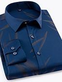 cheap Men's Ties & Bow Ties-Men's Basic Shirt - Geometric Print / Long Sleeve