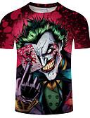 preiswerte Herren T-Shirts & Tank Tops-Herrn Totenkopf Motiv - Totenkopf / Grundlegend T-shirt Druck
