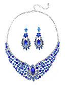 זול חלוקים & Sleepwear-בגדי ריקוד נשים שרשרת עבה סט תכשיטים - יהלום מדומה נשים, קלסי, אופנתי, גדול לִכלוֹל עגילי טיפה שרשרת קשת / כחול עבור Party טקס