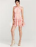זול שמלות נשים-מעל הברך אחיד - שמלה נדן סגנון רחוב בגדי ריקוד נשים