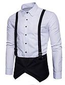 tanie Męskie koszule-Koszula Męskie Moda miejska Solidne kolory / Długi rękaw