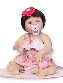 cheap Women's Jumpsuits & Rompers-NPKCOLLECTION Reborn Doll Baby Girl 24 inch Full Body Silicone / Vinyl - lifelike, Artificial Implantation Brown Eyes Kid's Girls' Gift