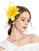 abordables Vestidos de Dama de Honor-Mujer Flor Horquilla / Fascinador - Vintage / Elegante Un Color