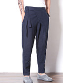ieftine Pantaloni Bărbați si Pantaloni Scurți-Bărbați Vintage Harem / Pantaloni Chinos Pantaloni Mată