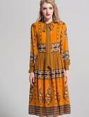 povoljno Ženske haljine-Žene Osnovni Korice Haljina Jednobojni / Cvjetni print Midi