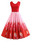 ieftine Rochii de Damă-Pentru femei Vintage Swing Rochie Floral Lungime Genunchi