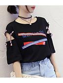 ieftine Tricou-Pentru femei Tricou Ieșire Scrisă