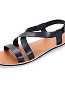abordables Camisas de Hombre-Hombre Zapatos Confort Cuero Verano Sandalias Blanco / Negro / Marrón Claro / Al aire libre