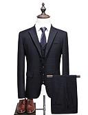 ieftine Polo Bărbați-Bărbați Rever Peaked Mărime Plus Size Costume Geometric / Manșon Lung